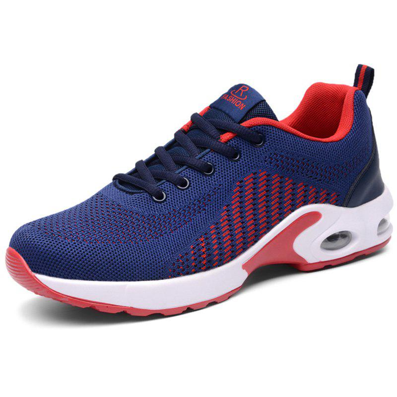 Discount Men Lace Up Mesh Fabric Cushion Casual Athletic Sports Shoes Sneakers