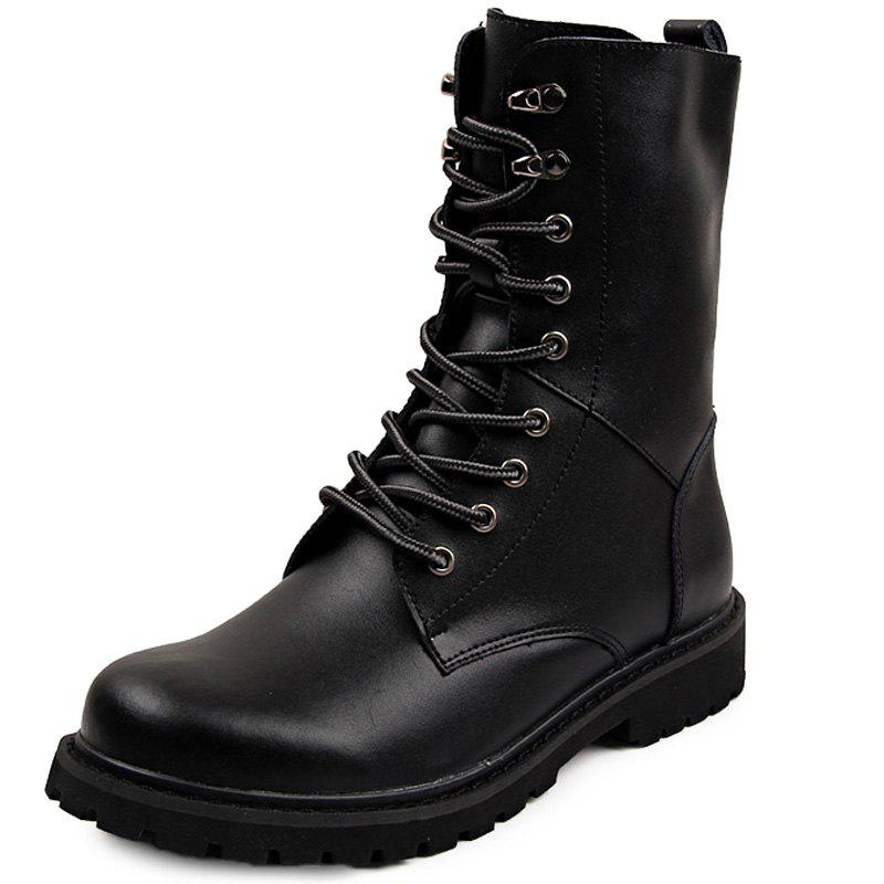 Shop Genuine Leather Lace Up Tall Boots Shoes for Men