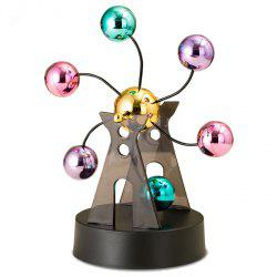 Electronic Perpetual Motion Desk Toy Revolving Balance Balls Physics Science Toy -