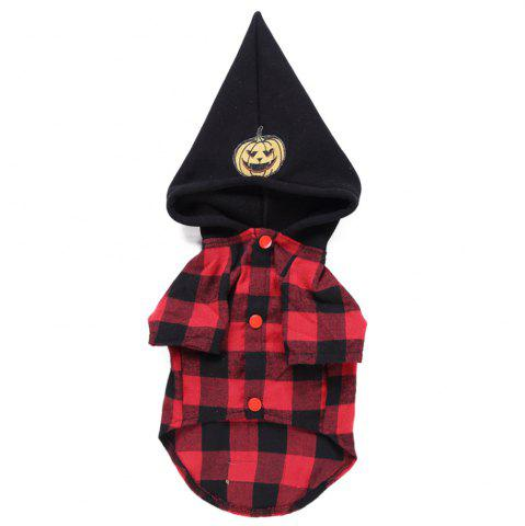 Creative and Plaid Design Pet Clothes - MULTI - XL