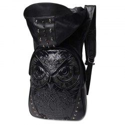 liyongyi 3175 3D Owl Pattern PU Leather Backpack -