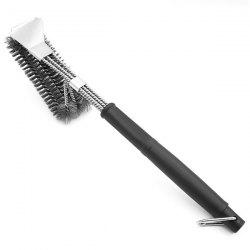 CG225 - A5 Stainless Steel Iron Wire BBQ Grill Brush with Scraper Barbecue Cleaning Tool -