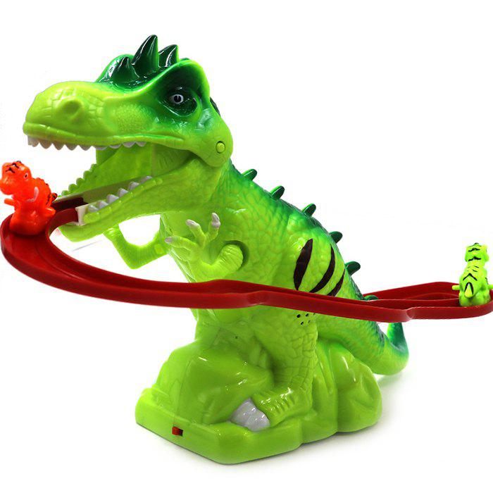 Cheap Electric Tracks Climb Stair Dinosaur Model Toy Set with Sound for Kids