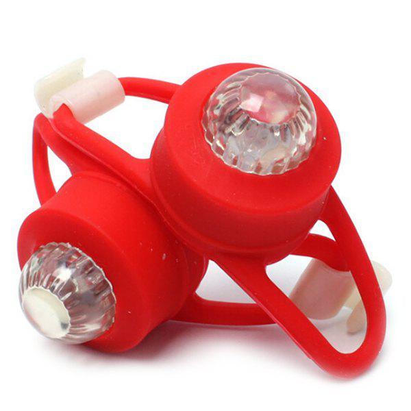 Shops Silica Gel Safety Bicycle Night Tail Light 2pcs