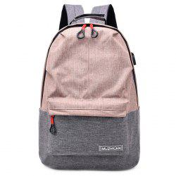 Waterproof External USB Port Design Backpack -