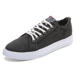 Mode HommeDenim Wearable Lace Up Chaussures Casual -