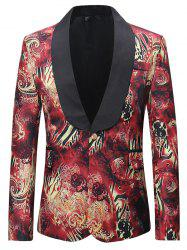 Leisure One-button Printed Coat Suit Blazer for Men -