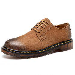 Men's Retro Plus Size Martin Leather Casual Shoes -