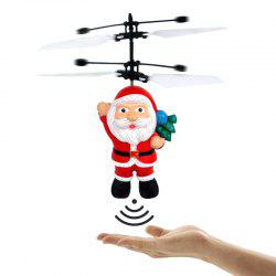 Electric Santa Claus Hand Induction Flying Doll Cartoon Suspension Aircraft Toys for Children -