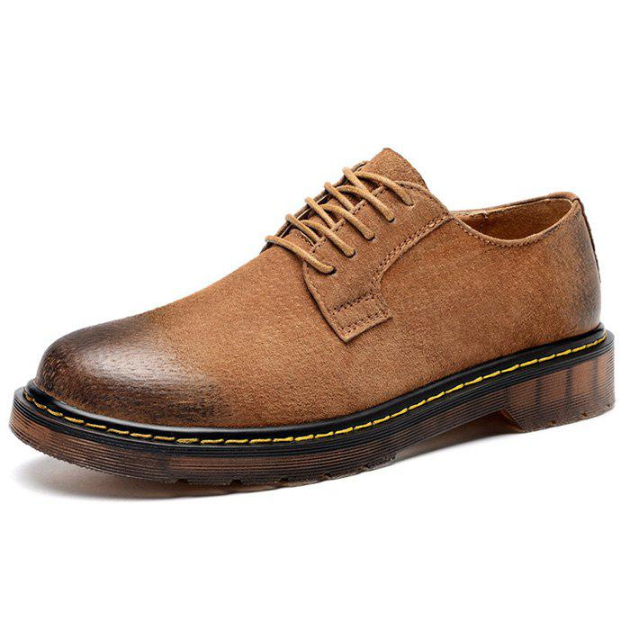 Discount Men's Retro Plus Size Martin Leather Casual Shoes