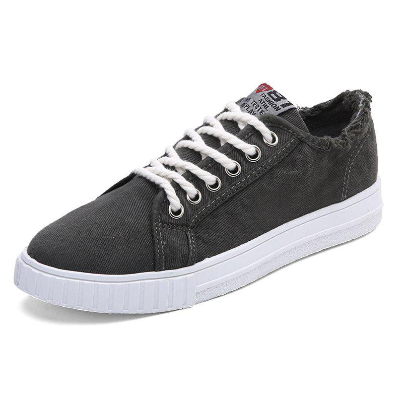 Discount Male FashionDenim Wearable Lace Up Casual Shoes