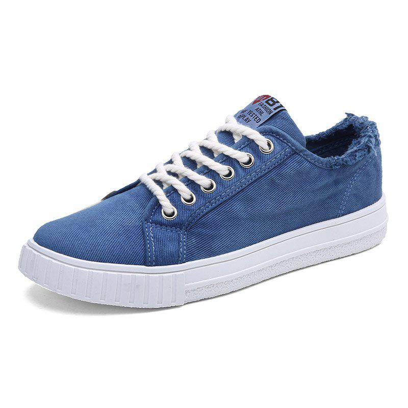 Best Male FashionDenim Wearable Lace Up Casual Shoes