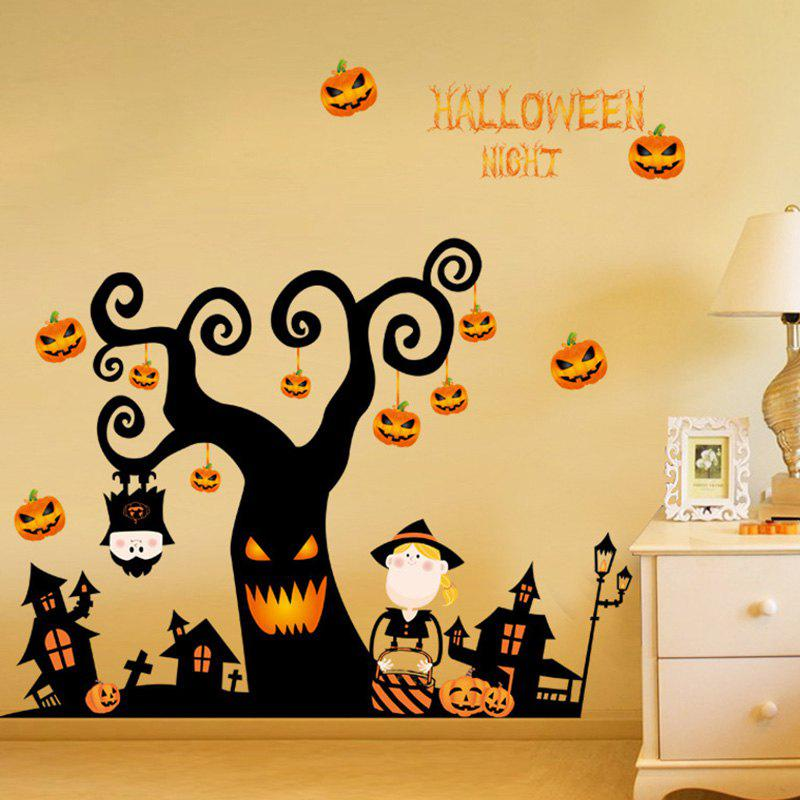 Outfits Halloween Tree Pattern Wall Sticker