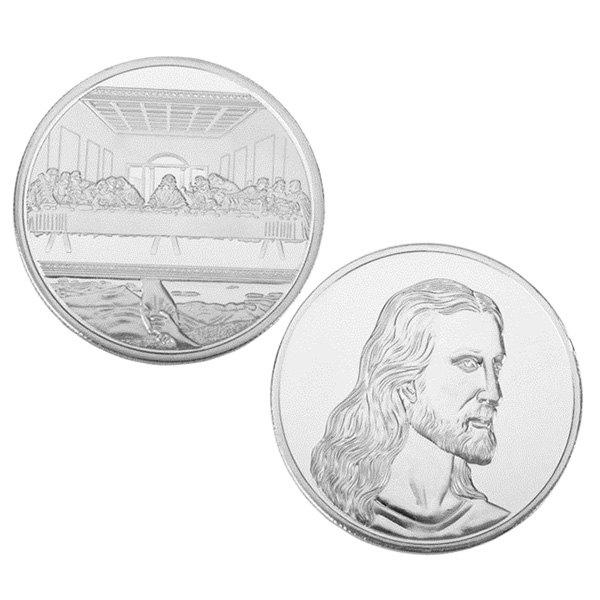 Store Jesus Last Supper Commemorative Coin Collectible Christmas Gift Toy