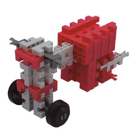Trendy DIY Chain Building Block Assembled Motorcycle Brick