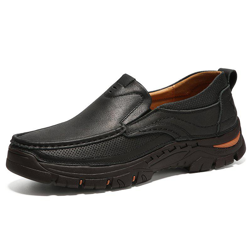 Chic Outdoor Soft Anti-slip Slip-on Leather Casual Shoes for Men