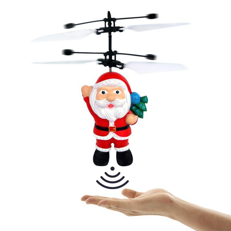 Shop Electric Santa Claus Hand Induction Flying Doll Cartoon Suspension Aircraft Toys for Children