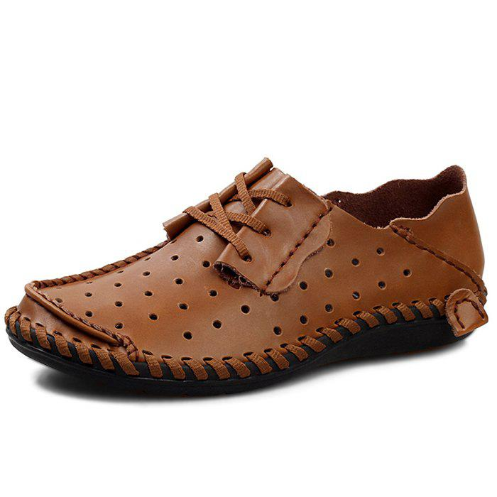 Chic Stylish Breathable Anti-slip Lace-up Leather Loafer Shoes for Men