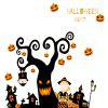 Halloween Tree Pattern Wall Sticker -