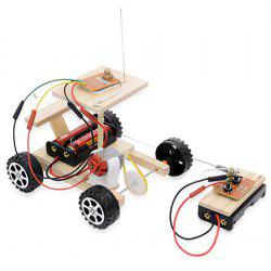 Creative DIY Assembled Racing Car Model with Remote Control Toy Set for Kids -