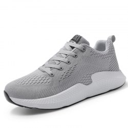 Mesh Cloth Solid Color Breathable Sneakers -