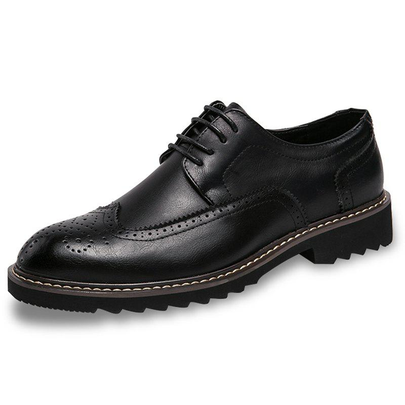 Shop Leisure Lace-up Casual Leather Shoes for Men