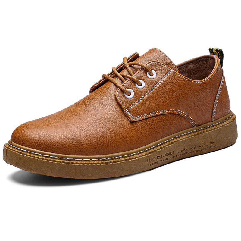 New Leisure Lace-up Flat Leather Shoes for Men