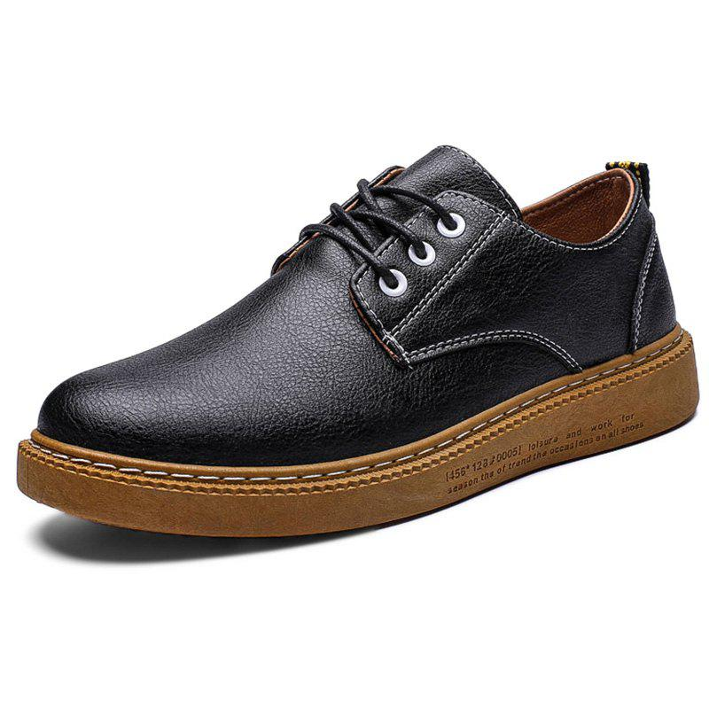 Store Leisure Lace-up Flat Leather Shoes for Men