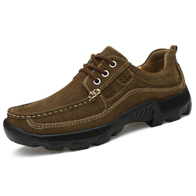 Affordable Men Lace Up Suede Wearable Casual Shoes