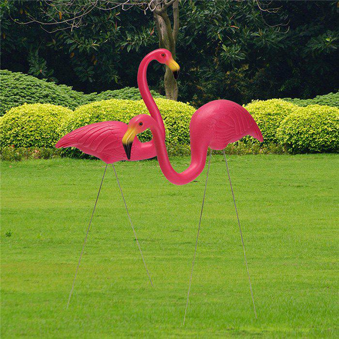 Poupée de flamants roses en plastique 2pcs Rose Vif