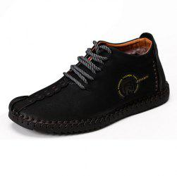 Comfortable Lace-up Leather Casual Shoes -