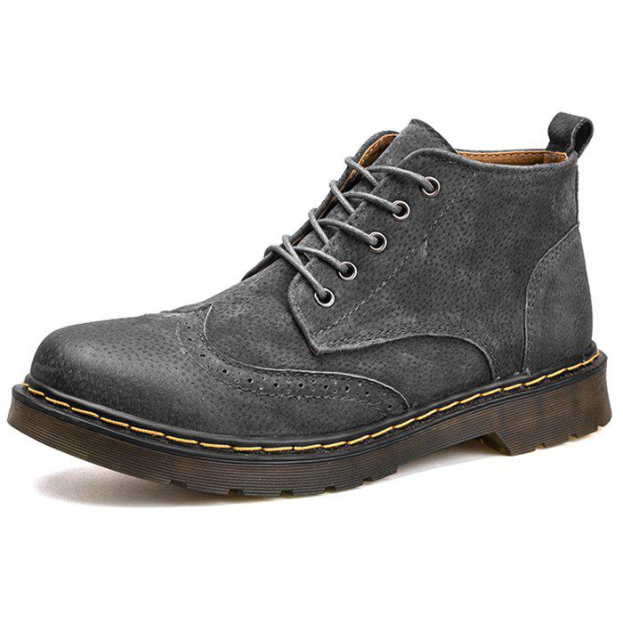 c2df25735 44% OFF] Fashion Winter Leather Martin Boots For Man | Rosegal