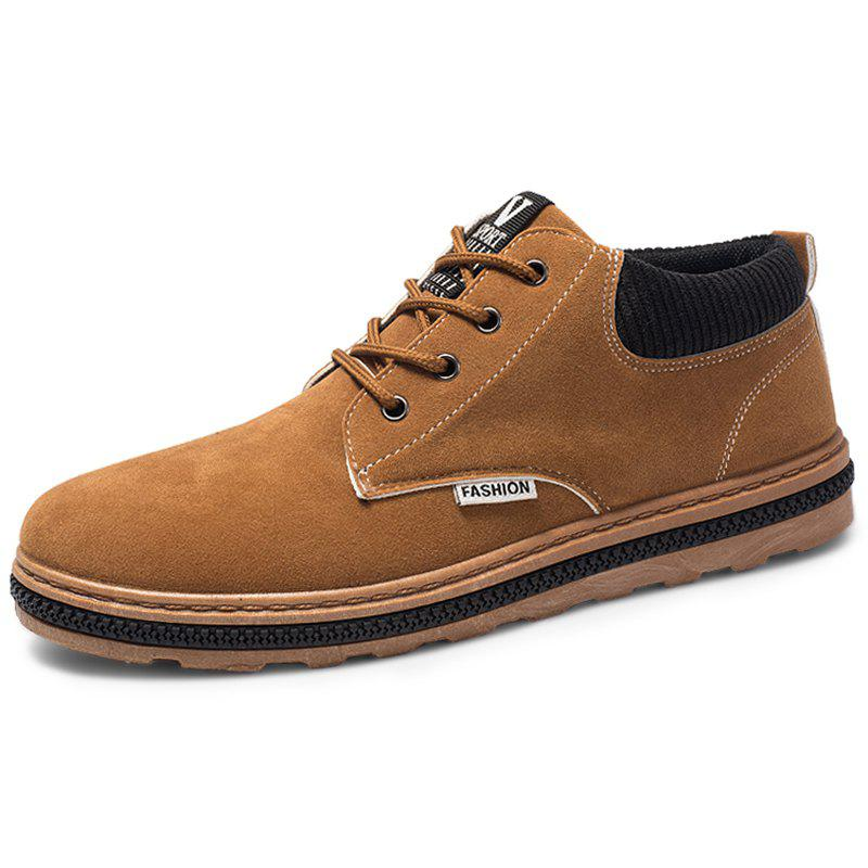 Online Men Lace Up PU Leather Casual Shoes