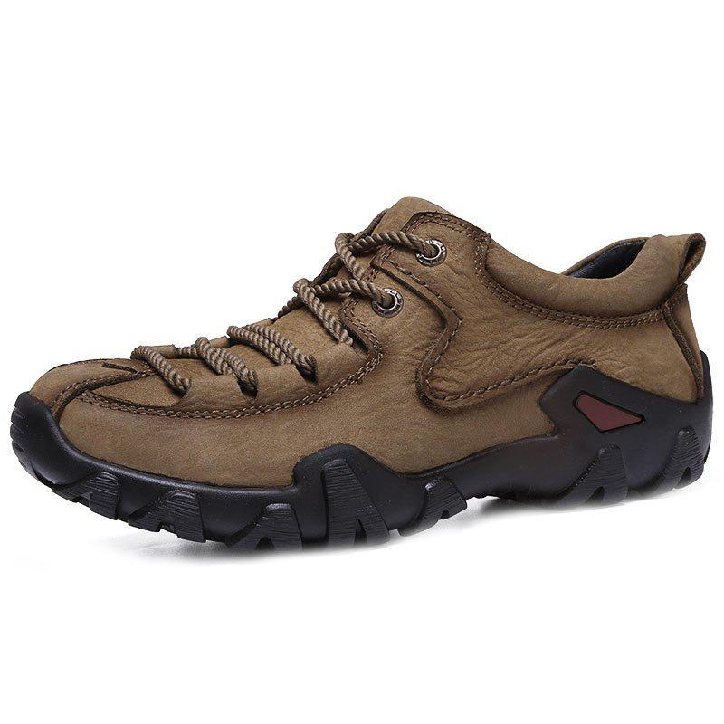 Outfit Genuine Leather Casual Wearable Hiking Shoes for Men
