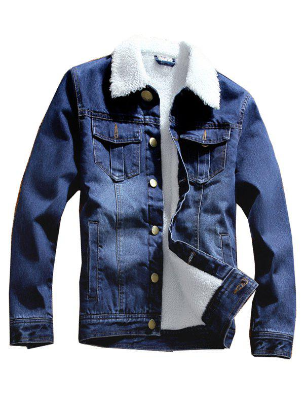 Fancy Stylish Warm Long Sleeve Denim Jacket for Men