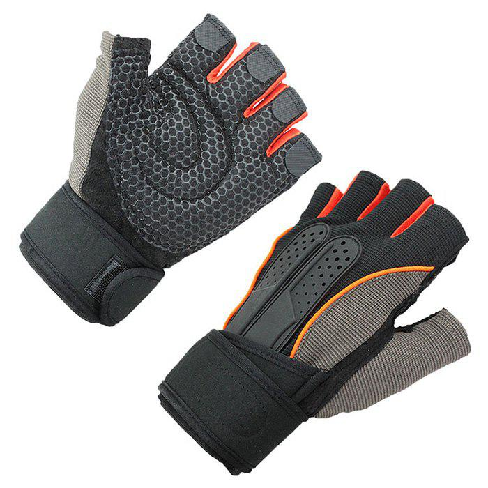 Store Pair of Half Finger Outdoor Sport Bicycle Gloves Shockproof Breathable Anti Slip