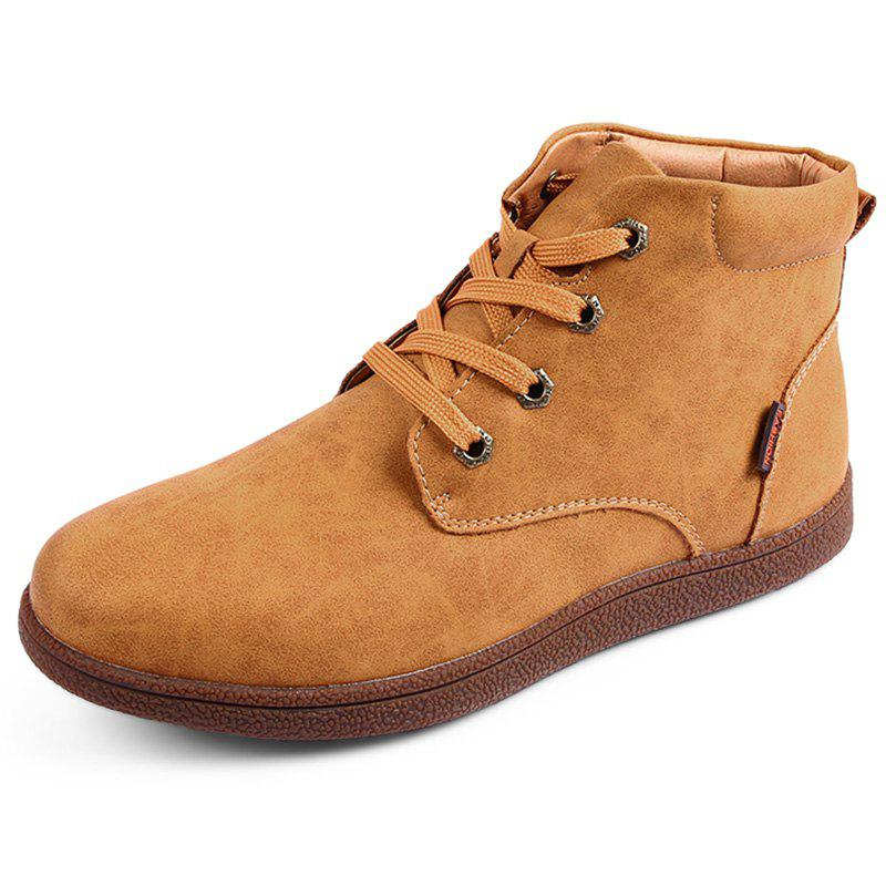Fancy Stylish Lace-up Brushed Men Cotton Casual Shoes