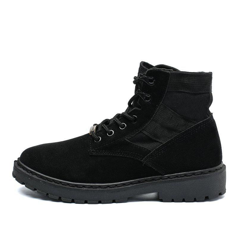 Online Fashion Comfortable Suede Durable High-top Classic Boots for Men