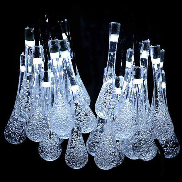 Fancy Waterproof Raindrop-shaped Solar Energy String Lamp with 30LEDs Light