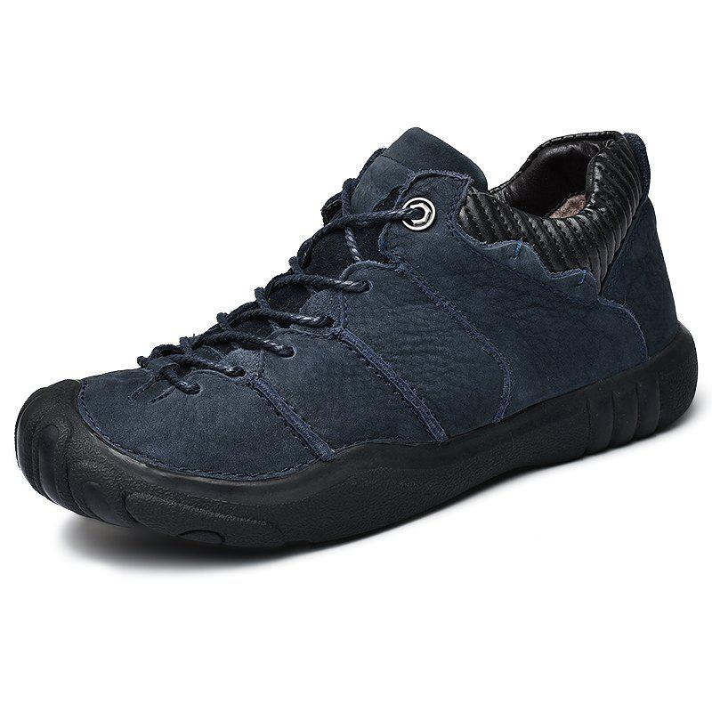 Cheap Outdoor Stylish Plush Lace-up Men Casual Shoes