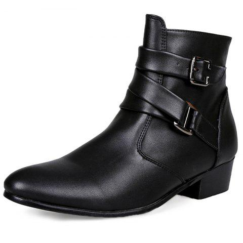 Stylish Wear-resistant Zipper Leather High-top Men Boots