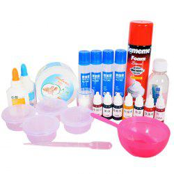 Creative DIY Fluffy Iceberg Slime Putty Stress Relief Toy Set -
