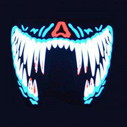 Halloween Voice Control LED Glowing Mask for Costume Party -