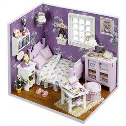 DIY Jigsaw Puzzle Hand-assembled Wood Cottage Dollhouse Model Toy Gift Set -
