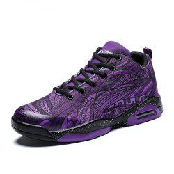 Stylish Comfortable Print Lace-up Breathable Casual Sneakers for Men -