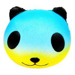 PU Squishy Colorful Star Panda Low Resilience Toy -