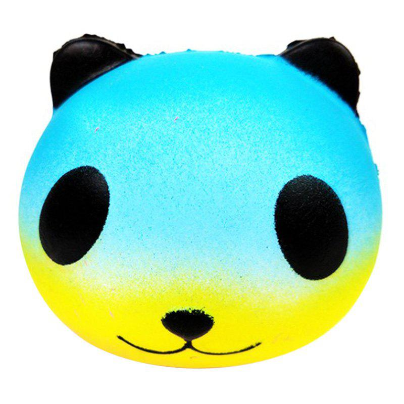 PU Squishy Colorful Star Panda Low Resilience Toy
