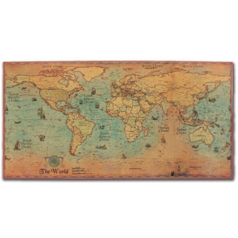 Vintage Nautical Chart World Map Poster