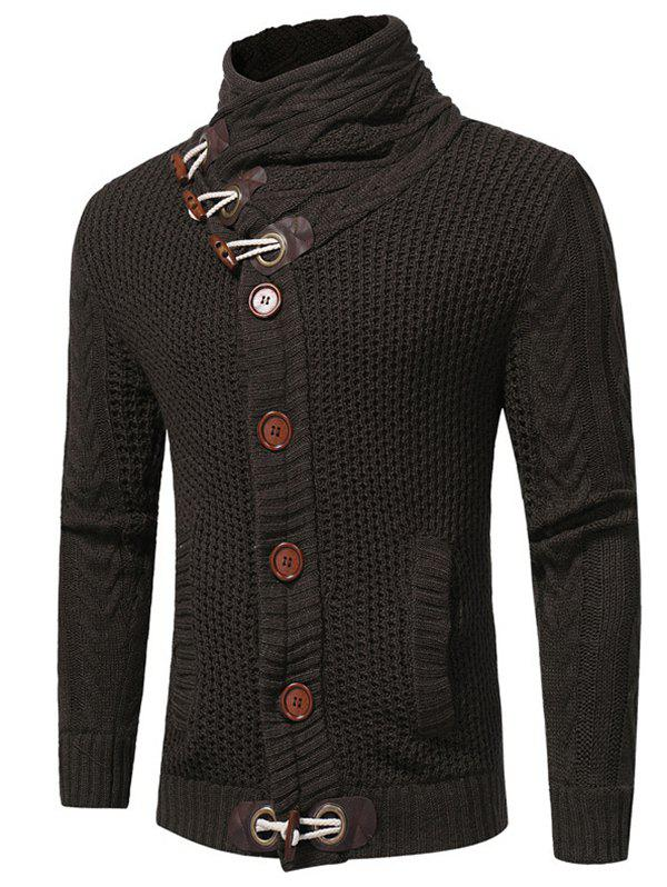 4bd78bb4029 Stylish Horn Button Long Sleeve Knitwear Cardigan Sweater for Men