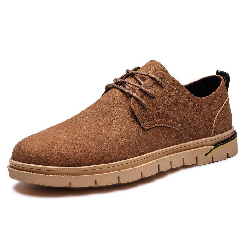 Online Stylish Anti-slip Lace-up Casual Shoes for Men